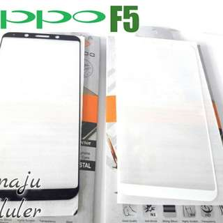 Tempered Glass Warna Full Layar For Oppo f5