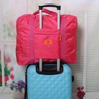 BN Brand New Hot Sweet Bright Pink Fuschia Blue Traveller Bag
