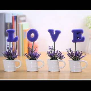 Wedding Deco - LOVE Plant Decorations