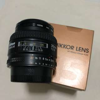 ***quick sale $400***   Nikon AF 35mm f/2D Nikkor Lens with Hoya UV[0] filter