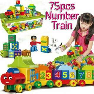 75 PCS NUMBER TRAIN BLOCKS