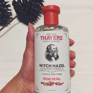 [OOS] Thayers, Rose Petal Witch Hazel with Aloe Vera Formula, [Alcohol-Free Toner] 12 fl oz [355 ml]