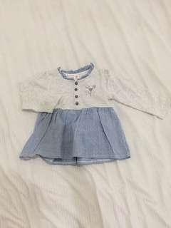 Dress anak 6-12m