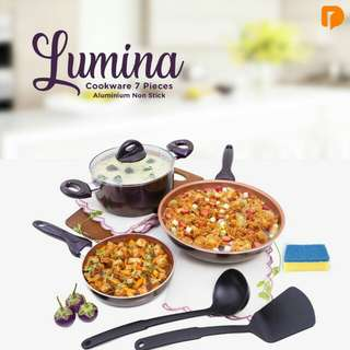 Lumina cookware set 7 pcs wajan teflon