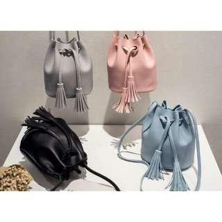 Korean Drawstring Tassel Bag