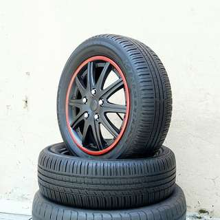 Used 185/60 R15(Sold) Kinforest (2pcs) 🙋♂️