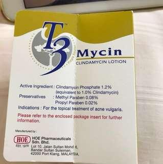 T3 Mycin Clindamycin lotion