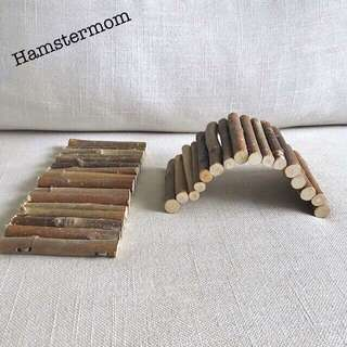 Hamster Short Wooden Bendy Bridge Toy