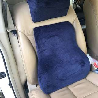 Car lumbar support cushion memory foam