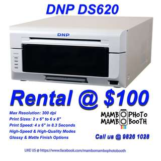 Photobooth Printer Rental:  DNP Printer for RENT (Fast & High Quality 4R Photo)