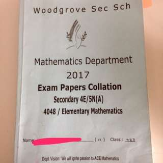 Sec 4 E-Math Exam Papers Collation