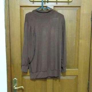 Baju atasan wanita spandex tebal coklat
