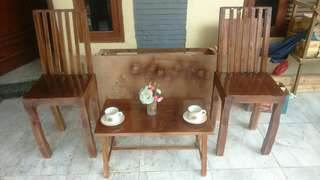 Meja dn kursi teras dari kayu jati blanda