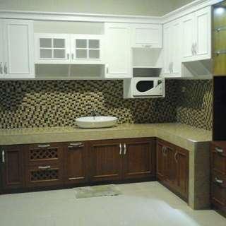 Kitchen set, panel tv, lemari pakaian, lemari bawah tangga, lemari tv dll