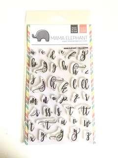 Mama elephant - calli letters