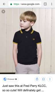 HUNTING FRED PERRY KIDS ORIGIAL NEW OR PRELOVED