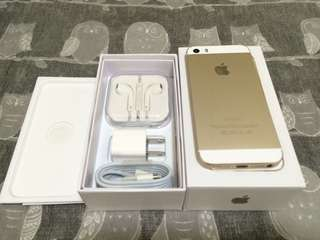 Iphone 5s 32gb Globe Locked Gold Complete Like New