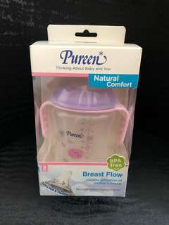 Pureen natural comfort bnip, baby training sippy/teat bottle/cup