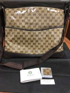 Brand new authentic Gucci GG Crystal Canvas Messenger Bag