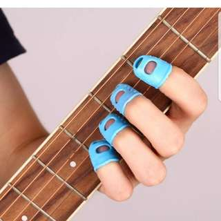 Angel- 4Pcs Guitar Fingertip Thumb Protectors Silicone Finger Guards Protection