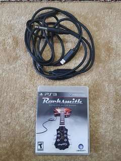 Rocksmith PS3 Game with Guitar Real Tone Cable