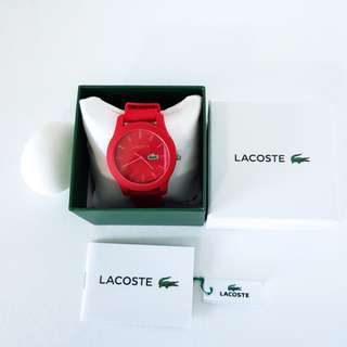 UNISEX LACOSTE 12.12 RED WATCH