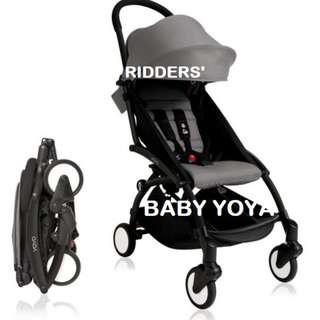 (GREY) FREE DELIVERY Baby yoya travel stroller pram