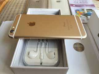 Iphone 6 128gb Globe Locked Gold Complete 100% Smooth