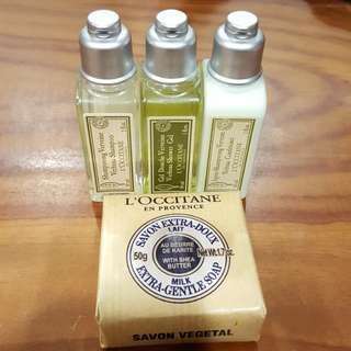 ⭐全新品⭐L'OCCITANE歐舒丹馬鞭草旅行組/乳油木牛奶皂