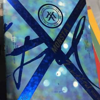 ON HAND UNSEALED ALBUM MONSTA X THE CLAN 2.5 BLUE VER.