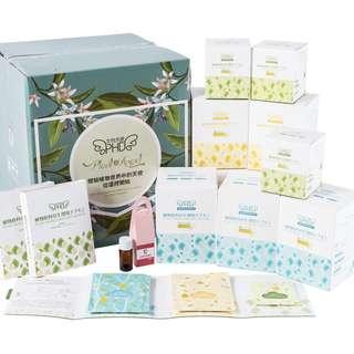 女性天使PHD天然植物纖維材質衛生巾四盒日用三盒夜用加三盒護墊