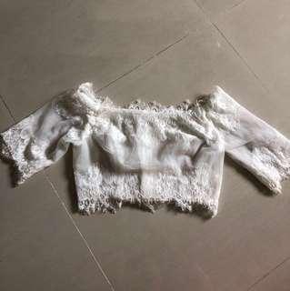 Wedding dress White Lace Off-Shoulder