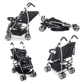 preloved tiny world tandem stroller