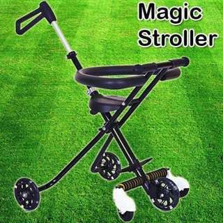 MAGIC STROLLER 5 WHEEL (BLACK COLOR)