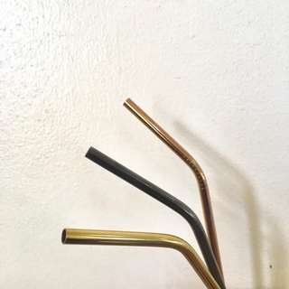 Stainless steel straws (gold, rose gold, black)