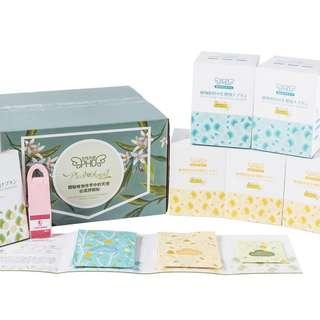女性天使PHD天然植物纖維材質衛生巾三盒日用二盒夜用