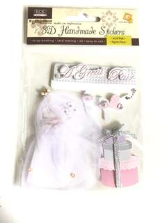 Kck craft - bride stickers 3D