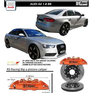 AUDI A4 1.8L B8  -  D1 SPEC BIG 4 BRAKE KIT