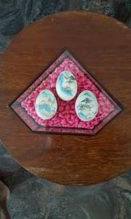 Vintage hand painted eggs