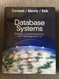 Database Systems- Design, Implementation, and Management 10e