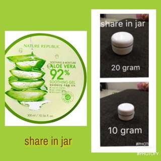 Nature Republic Aloe Vera share in jar 10ml dan 20 ml