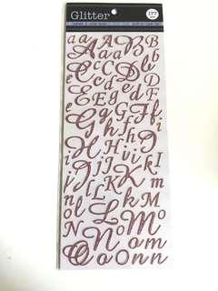 Kck craft - glitter alphabet stickers