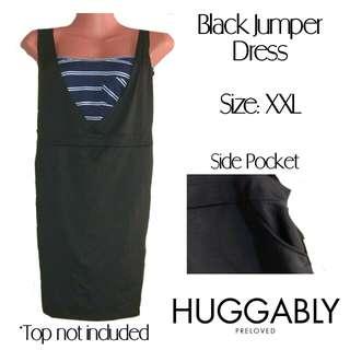 PLUS SIZE Black Jumper Dress