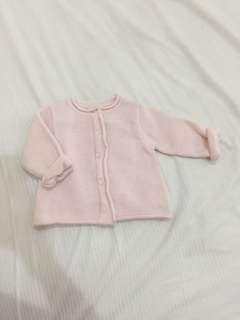 Jaket bayi cewe 12-18m