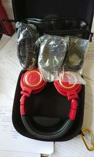 Audio technica ath50x red and hardcover case