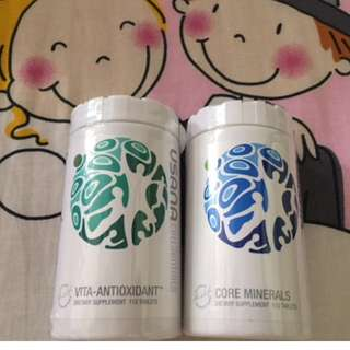 🌟(Ready Stock)💯% Brand New In Bottle Sealed Usana® CellSentials™ - Core Minerals and Vita-Antioxidanti (112 tablets each)
