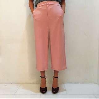 Patel Pink Culottes / Wide Legged Pants