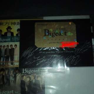TVXQ tohoshinki Bigeast official fanclub magazine vol. 16 with official fanclub card