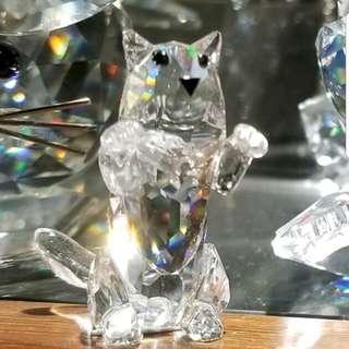 Swarovski 水晶擺設退休猫冇盒