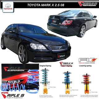 TOYOTA MARK X 250G  - TRIPLE S SPRINGS